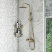 New (D22) Arissa Brushed Brass Shower Set. RRP £384.99. Distinctive Brushed Brass Finish. The...