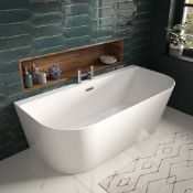 New (D10) 1500x750mm Modern Freestanding D Shape Bath. RRP £1733.99. Wealth Of Styles And Si...