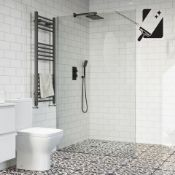 New (U35) 1200mm - 10mm - Premium Frameless Easy Clean Wet Room Panel. RRP £549.99.10mm Briti...