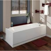 New (E7) 1700x700mm Cascade Round Single Ended Bath. RRP £395.99. Panel Included.
