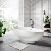 New (E5) 1800x900mm Edmonton Freestanding Bath. RRP £2,999.As A Result Of Thorough Design Moo...