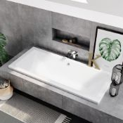 New (E6) 1800x800mm Square Double Ended Bath. Made From The Best Quality Lucite Acrylic Fibreg...