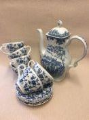 Blue and white ceramics mix