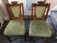 Ornate mahogany dining chairs (set of four)