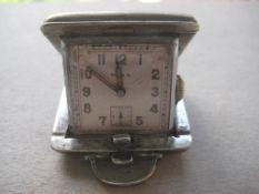 Vintage Mira EPNS Cased Miniature Travel Clock