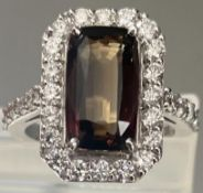 5.07 Ct Natural Alexandrite Ring Unheated Untreated with Diamonds & 18k Gold