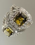 4.17Ct Natural Alexandrite Ring Unheated/Untreated with Diamonds & 18k Gold