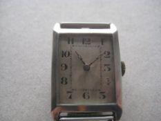 Vintage Gents Silver Cased Wrist Watch
