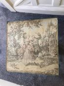 Antique Victorian Tapestry Fire Guard.