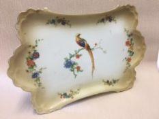 Serving plate, MZ Altrohlau Golden Pheasant