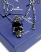 Swarovski Genuine Men's Skull Necklace Discontinued