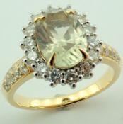 18K Diaspore Colour Change Ring- Total 2,70 Ct.