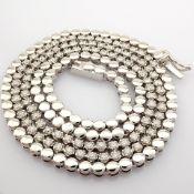 14K 1,20 Ct. Diamond Tennis Half Eternity Necklace