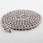 14K 2,10 Ct. Diamond Tennis Eternity Necklace