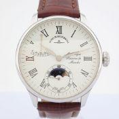 Zeno-Watch Basel / Godat II Roma Power Reserve - Gentlmen's Steel Wrist Watch