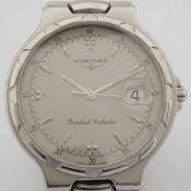 Longines / Conquest Perpetual Calender - Gentlmen's Steel Wrist Watch