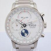 Eterna / Tangaroa Moonphase Chronograph (Unworn) - Gentlmen's Steel Wrist Watch