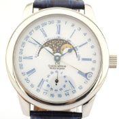 Claude Meylan / Vallee De Joux Moonphase - Gentlmen's Steel Wrist Watch