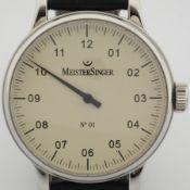Meistersinger / No 01 - Gentlmen's Steel Wrist Watch