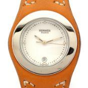 Hermes / Harnais HA3.210 - Lady's Steel Wrist Watch