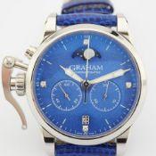 Graham / Chronofighter Lady Moon - Lady's Steel Wrist Watch