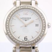 Longines / Primaluna Diamonds - Lady's Steel Wrist Watch