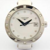 Longines / L5.175 Diamond Bezel & Dial - Lady's Steel Wrist Watch