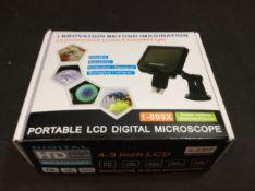Innovation Beyond Imagination Portable LCD Digital Microscope 1-600X