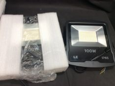 Box of 2 Commerical 100W LED Floodlight IP65
