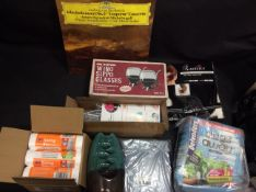 BRAND NEW STOCK 8x Mixed Items To Inc Wine Glasses, iPad Case, Beethoven Record, ect