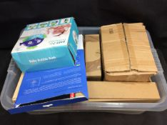 Box of Mixed Items To Include Bubble Machine, Laptop Case, ect