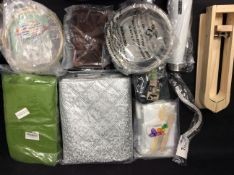 10x Mixed Items To Include Curtains, Dog Harness, Dog Bowl, Flask, Embroidery Kit, ect