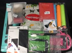 9x Mixed Items To Include Spiral Vegetable Slicer, iPad Cover, Keyboard, Car Seat Cover, ect