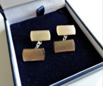 Vintage Gold on Sterling Silver Cufflinks c. 1960's