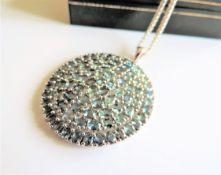 Sterling Silver 22ct Topaz Gemstone Pendant Necklace