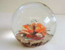 Vintage Selkirk Glass Paperweight 1989 Signed on Base