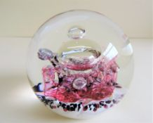 Selkirk Glass Paperweight Firedance 1997 Signed and Dated