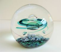 Selkirk Glass Paperweight Emerald Star 1981 Limited Edition