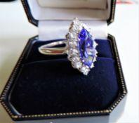 Sterling Silver Gemstone Dress Ring Size N1/2