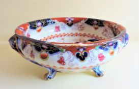 Antique Japanese Pottery Bowl Hand Painted 33cm wide