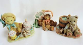 3 x Cherished Teddies Figurines
