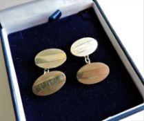 Pair Vintage 9ct Gold Cufflinks 11.2 grams Hallmarked c.1962