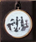 Peter Bates Miniature Silhoutte 'Conversations'
