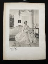 Royal Photographer Anthony Buckley signed photo of H.R.H. The Queen Mother