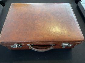Vintage E.A. McMillan Ltd, Aberdeen, Leather Suitcase