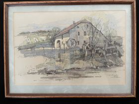 Original pastel and pen