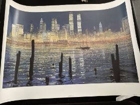 The Glisten Of New York by Peter Ellenshaw Limited Edition Print