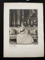 Royal Photographer Anthony Buckley signed photo of H.R.H. The Queen