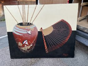 Large oil on canvas by Franco