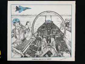 "Jean Luc Beghin signed print McDonnell Douglas F-15 ""Eagle"""